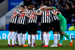 Newcastle United huddle - Mandatory by-line: Robbie Stephenson/JMP - 12/04/2019 - FOOTBALL - King Power Stadium - Leicester, England - Leicester City v Newcastle United - Premier League