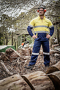 Ryan Buchanan models Stubbies workwear in support of Movember.<br />