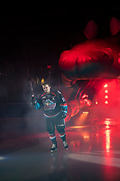 KELOWNA, CANADA - SEPTEMBER 22:  Erik Gardiner #11  of the Kelowna Rockets enters the ice against the Kamloops Blazers on September 22, 2018 at Prospera Place in Kelowna, British Columbia, Canada.  (Photo by Marissa Baecker/Shoot the Breeze)  *** Local Caption ***