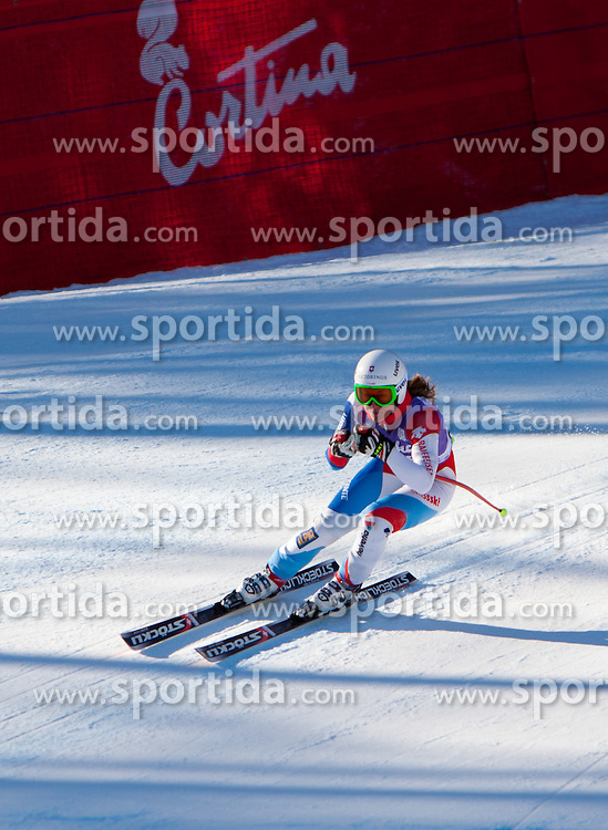 13.01.2012, Pista Olympia delle Tofane, Cortina, ITA, FIS Weltcup Ski Alpin, Damen, Abfahrt, 2. Training, im Bild Fabienne Suter (SUI) // Fabienne Suter of Switzerland during ladies downhill 2nd training of FIS Ski Alpine World Cup at 'Pista Olympia delle Tofane' course in Cortina, Italy on 2012/01/13. EXPA Pictures © 2012, PhotoCredit: EXPA/ Johann Groder