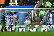 Penalty - Dave Edwards (16) of Reading is devastated after fouling Pawel Wszolek (22) of Queens Park Rangers in the box and conceding a penalty during the EFL Sky Bet Championship match between Reading and Queens Park Rangers at the Madejski Stadium, Reading, England on 30 March 2018. Picture by Graham Hunt.