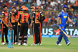 April 29, 2018 - Jaipur, Rajasthan, India - Sunrisers  Hyderabad team player celebrate the wicket of Ben Stokes  during the IPL T20 match against Rajasthan Royals at Sawai Mansingh Stadium in Jaipur on 29th April,2018. (Credit Image: © Vishal Bhatnagar/NurPhoto via ZUMA Press)