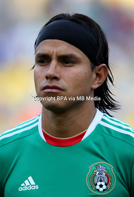 Fifa Brazil 2013 Confederation Cup / Group A Match /<br /> Mexico vs Italy 1-2   ( Jornalista Mario Filho - Maracana Stadium - Rio de Janeiro , Brazil )<br /> Gerardo Flores of Mexico , During the match between Mexico and Italy