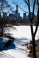 US, New York City, Central Park. The Ramble and Lake.