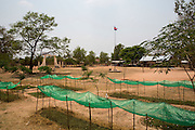 The vegetable garden that ICS volunteers helped the children to set up in the grounds of their school in the village of Banteay Char, near Battambang, Cambodia.