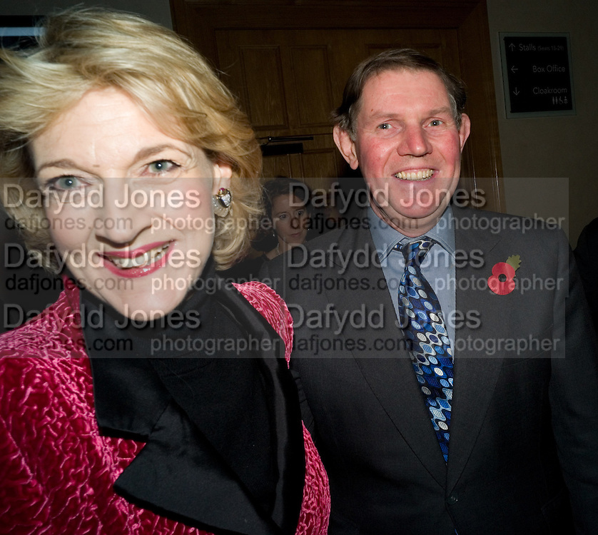 FIONA SHACKLETON; IAN SHACKLETON, Book launch for the book by Julian Fellowes 'Past Imperfect.' Cadogan Hall. Sloane Terrace. London. 4 November 2008 *** Local Caption *** -DO NOT ARCHIVE -Copyright Photograph by Dafydd Jones. 248 Clapham Rd. London SW9 0PZ. Tel 0207 820 0771. www.dafjones.com