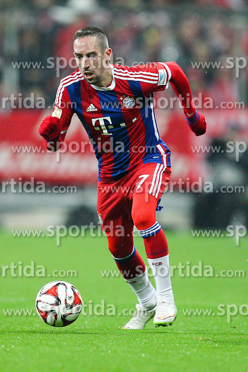 27.02.2015, Allianz Arena, Muenchen, GER, 1. FBL, FC Bayern Muenchen vs 1. FC K&ouml;ln, 23. Runde, im Bild Franck Ribery #7 (FC Bayern Muenchen) // during the German Bundesliga 23rd round match between FC Bayern Munich and 1. FC K&ouml;ln at the Allianz Arena in Muenchen, Germany on 2015/02/27. EXPA Pictures &copy; 2015, PhotoCredit: EXPA/ Eibner-Pressefoto/ Kolbert<br /> <br /> *****ATTENTION - OUT of GER*****