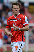 Tom Bradshaw during the Sky Bet League 1 match between Walsall and Doncaster Rovers at the Banks's Stadium, Walsall, England on 12 September 2015. Photo by Alan Franklin.
