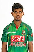 Musaddek Hossain Saikat, Bangladesh cricket team headshots ahead of their New Zealand tour. Cobham Oval, Whangarei. 21 December 2016. Copyright Image: Heath Johnson / www.photosport.nz