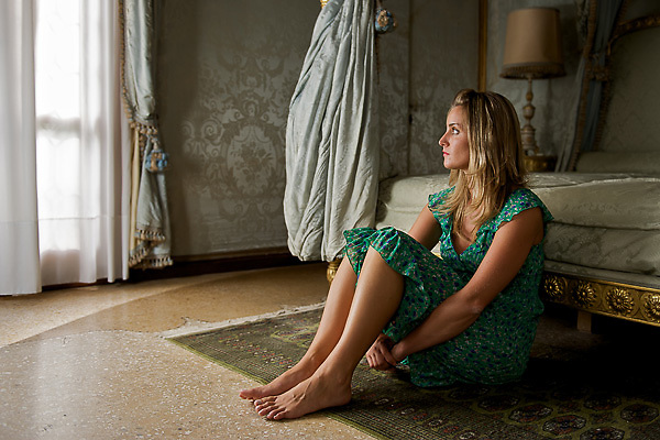 Portrait of a woman in Venice<br /> <br /> Portrait einer Frau in Venedig