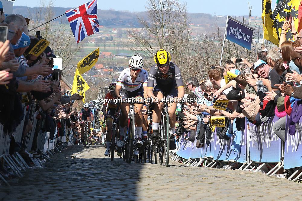 03-04-2016: Wielrennen: Ronde van Vlaanderen vrouwen: Oudenaarde  <br />OUDENAARDE (BEL) cycling  <br />The sixth race in the UCI Womensworldtour is the ronde van Vlaanderen. A race over the famous Flemish climbs. On the Oude Kwaremont Elisa Longo Borghini, Lizzy Armitstead