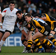 Wycombe, Great Britain. Wasps, Eoin REDDAN, during the Guinness Premiership Game London Wasps vs Newcastle Falcon at Adams Park, England, on Sunday 25/11/2007   [Mandatory Credit. Peter Spurrier/Intersport Images]