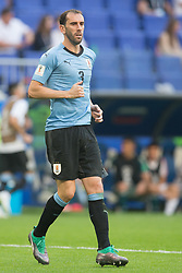 June 25, 2018 - Samara, Russia - Diego Godin of Uruguay in action during the 2018 FIFA World Cup Russia group A match between Uruguay and Russia at Samara Arena on June 25, 2018 in Samara, Russia. (Credit Image: © Foto Olimpik/NurPhoto via ZUMA Press)