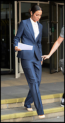 Image ©Licensed to i-Images Picture Agency. 25/07/2014. London, United Kingdom. Tulisa Contostavlos leaves  Stratford Magistrates' Court after being found guilty in her assault trial. Picture by Andrew Parsons / i-Images