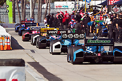 LONG BEACH, CA - APR 15: IndyCar Series driver Will Power drives by the pits after a red flag duriing qualifying at the 2012 Toyota Grand Prix of Long Beach. All fees must be ageed prior to publication,.Byline and/or web usage link must  read SILVEX.PHOTOSHELTER.COM Photo by Eduardo E. Silva