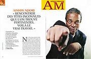 Simon Njami, ecrivain, critique et commissaire d'exposition  suisse, d'origine camerounaise. Paris,FRANCE-le 11/10/11<br /> Ref: 627124_000043