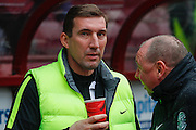 Hibernian FC Manager Alan Stubbs hoping to guide his team to the next round at the Scottish Cup 5th round match between Heart of Midlothian and Hibernian at Tynecastle Stadium, Gorgie, Scotland on 7 February 2016. Photo by Craig McAllister.