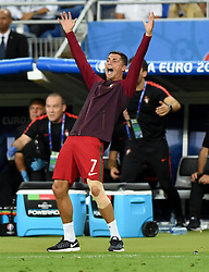 Cristiano Ronaldo of Portugal reacts on the touch line  - Mandatory by-line: Joe Meredith/JMP - 10/07/2016 - FOOTBALL - Stade de France - Saint-Denis, France - Portugal v France - UEFA European Championship Final