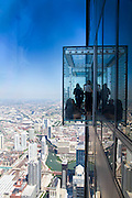 The Willis tower (formerly Sears tower) glass balconies observation deck.