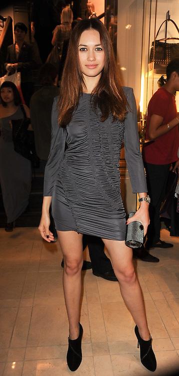 Olga Kurylenko at Burberry, New Bond Street as part of Fashion's Night Out held around London on 8th September 2010.