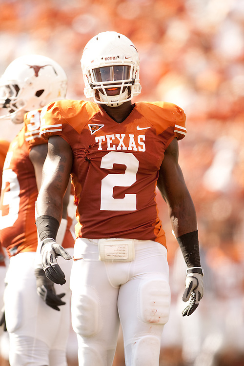 Sergio Kindle, on-field portrait. University of Texas-El Paso Miners at Univeristy of Texas Longhorns. Photographed at Darrell K. Royal-Texas Memorial Stadium in Austin, Texas on Saturday, September 26, 2009. Photograph © 2009 Darren Carroll