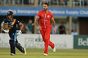 Jordan Clark of Lancashire Lightning during the Natwest T20 Blast North Group match between Derbyshire County Cricket Club and Lancashire County Cricket Club at the 3aaa County Ground, Derby, United Kingdom on 6 July 2018. Picture by Mick Haynes.