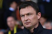 Barnsley caretaker manager Paul Heckingbottom during the Sky Bet League 1 match between Burton Albion and Barnsley at the Pirelli Stadium, Burton upon Trent, England on 16 April 2016. Photo by Aaron  Lupton.