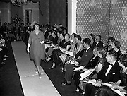 Sybil Connolly Fashion Show at New Premises at Merrion Sq..17/01/1958. irish historical picture of  Sybil Connolly Fashion Show at Merrion Square, Dublin, Ireland.<br />