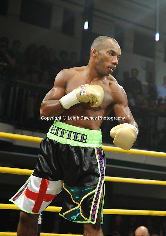 Junior Witter (pictured) defeats Nathan Graham at Quarter Final Two at Prizefighter Welterweights II,York Hall, Bethnal Green ,London. Matchroom Sport/Prizefighter.Photo credit: Leigh Dawney 2011 07.06.11