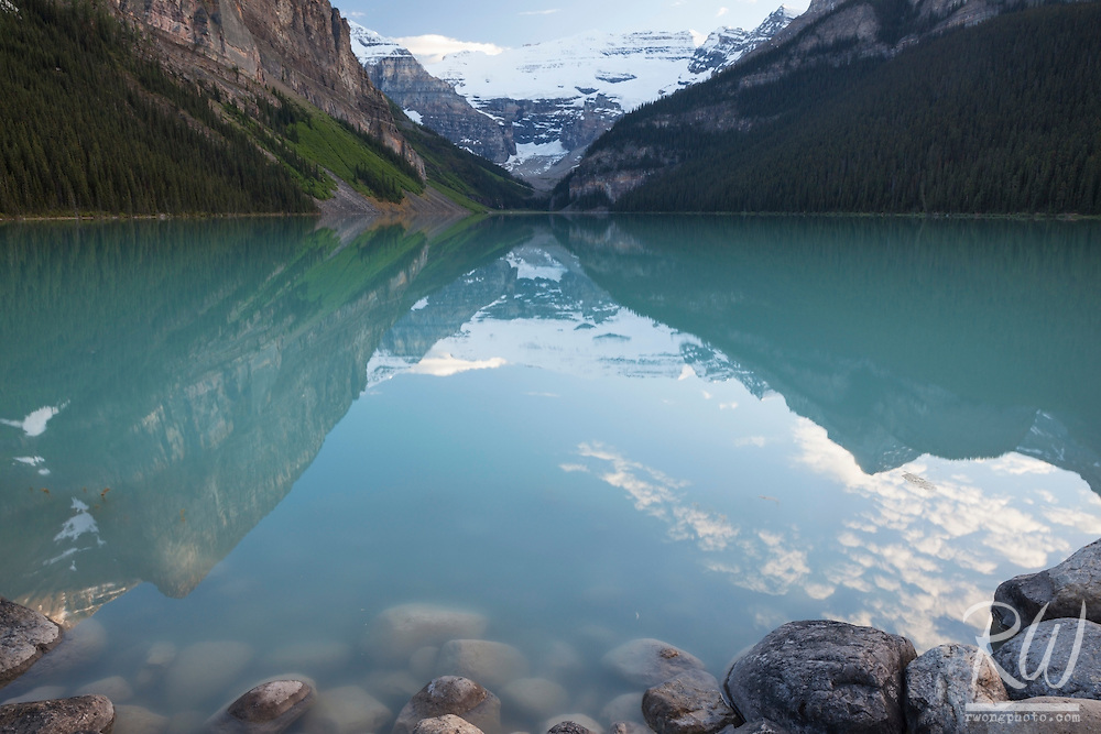 Lake Louise at Sunset, Banff National Park, Alberta, Canada