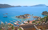 View over the Fortress of Kalekoy<br /> to the Bay of Kekova, south coast, Turkey<br /> c. Ellen Rooney