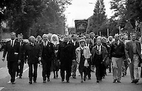 Front of march. 1994 Yorkshire Miners Gala. Doncaster.