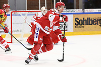 2019-10-02 | Ljungby, Sweden: Troja-Ljungby (4) Martin Fransson during the game between IF Troja / Ljungby and Kalmar HC at Ljungby Arena ( Photo by: Fredrik Sten | Swe Press Photo )<br /> <br /> Keywords: Ljungby, Icehockey, HockeyEttan, Ljungby Arena, IF Troja / Ljungby, Kalmar HC, fstk191002, ATG HockeyEttan