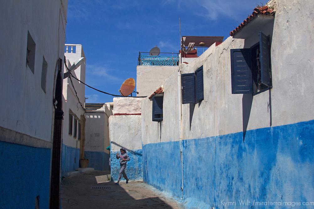 Africa, Morocco, Rabat. Kasbah Oudaya, a UNESCO World Heritage Site.