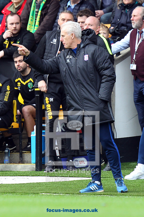 Ipswich Town Manager Mick McCarthy during the Sky Bet Championship match at Carrow Road, Norwich<br /> Picture by Paul Chesterton/Focus Images Ltd +44 7904 640267<br /> 26/02/2017