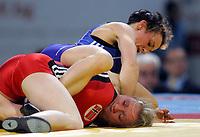 BILDET INNGÅR IKKE I FASTAVTALENE PÅ NETT MEN MÅ KJØPES SEPARAT<br /> <br /> Bryting<br /> Foto: imago/Digitalsport<br /> NORWAY ONLY<br /> <br /> 22.04.2012 <br /> 22.04.2012 Sofia(Bulgaria) European Olympic Games qualifying tournament women s wrestling free women s 48 kg Alexandra Engelhardt (up) Germany and Henriette Slattum (down) Norway