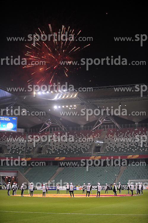 26.02.2015, Pepsi Arena, Warschau, POL, UEFA EL, Legia Warschau vs Ajax Amsterdam, 1. Runde, R&uuml;ckspiel, im Bild PUSTY STADION MECZ BEZ KIBICOW FAJERWERKI DOPING SPOZA STADIONU // during the UEFA Europa League 1st Round, 2nd Leg match between Legia Warschau and Ajax Amsterdam at the Pepsi Arena in Warschau, Poland on 2015/02/26. EXPA Pictures &copy; 2015, PhotoCredit: EXPA/ Newspix/ LUKASZ LASKOWSKI<br /> <br /> *****ATTENTION - for AUT, SLO, CRO, SRB, BIH, MAZ, TUR, SUI, SWE only*****