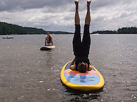Sup Yoga at EKAL in Meredith and Center Harbor.  ©2015 Karen Bobotas Photographer