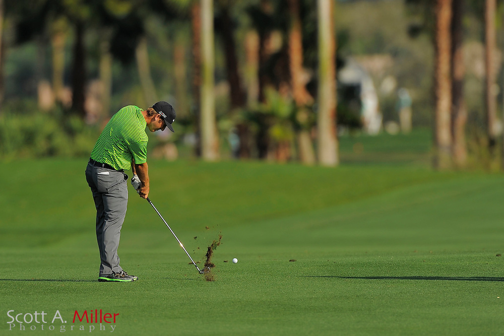 Kevin Chappell hits from the fairway on the third hole during the second round of the Honda Classic at PGA National on March 2, 2012 in Palm Beach Gardens, Fla. ..©2012 Scott A. Miller.