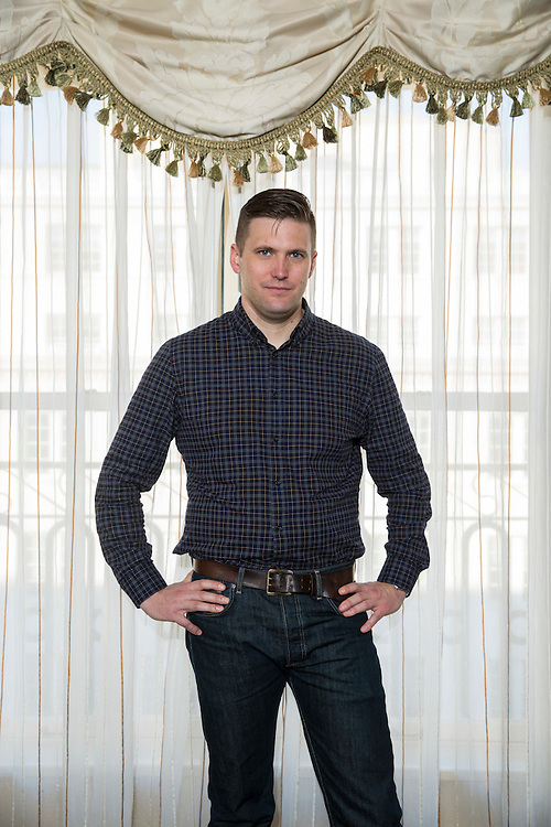 Richard Spencer, the chairman of the National Policy Institute, a prominent alt-right organization, poses for a portrait in Washington on November 17, 2016.