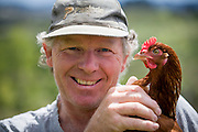 Henry the chicken farmer. Photographed for Otaika Valley farms and Nosh.