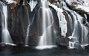 That little section of frozen ice in the middle of Hraunfossar waterfall - Barnafoss, Iceland, grabbed my attention as soon as i walked up along the path. It was day one of my trip in Iceland and this was the first 'stop' for the day - what a way to begin a photographic tour