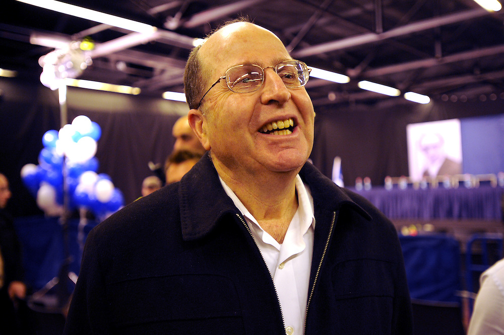 "Moshe ""Bogie"" Ya'alon attends the Likud party comitee gathering, Tel Aviv Feb 01, 2012. Photo by Gili Yaari"