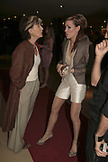 PATTI PALMER-TOMPKINSON AND TARA PALMER-TOMPKINSON, THREE'S A CROWD EVENTS LAUNCHES, THE MAYFAIR HOTEL BAR, STATTON ST. LONDON.<br />