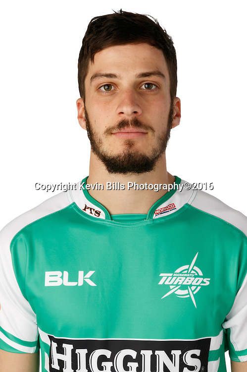 Luther Hirini.<br /> Headshots of the Manawatu Tubos rugby team to compete in the 2016 season of the Mitre 10 Cup Premiership.<br /> Photo credit: www.manawaturugby.co.nz