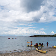 AUGUST 27, 2018--CULEBRA---PUERTO RICO--<br /> Kayak tour in Tamarindo Beach where a vibrant coral reef was destroyed by Hurricane Maria in September of 2017.<br /> (Photo by Angel Valentin/Freelance)