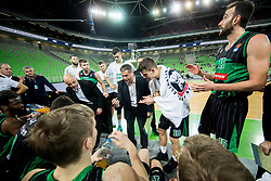 Sasa Nikitovic, coach of Petrol Olimpija during basketball match between KK Petrol Olimpija and KK FMP in Round #9 of ABA League 2018/19, on November 24, 2018, in Arena Stozice, Ljubljana, Slovenia. Photo by Vid Ponikvar / Sportida