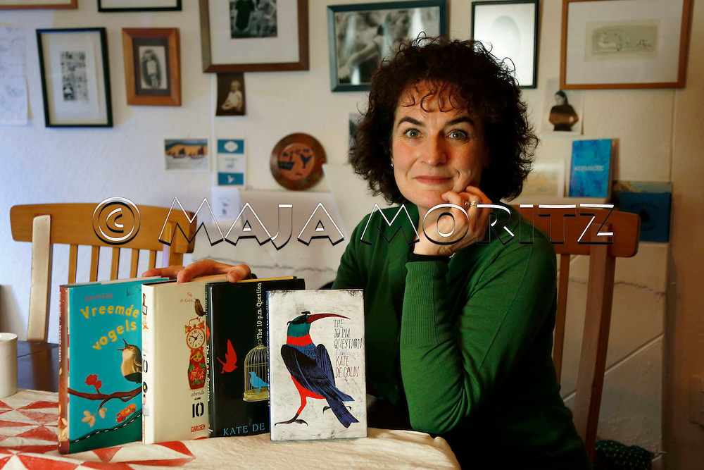 Kate De Goldi at home in Wellington, New Zealand, with her latest book publications