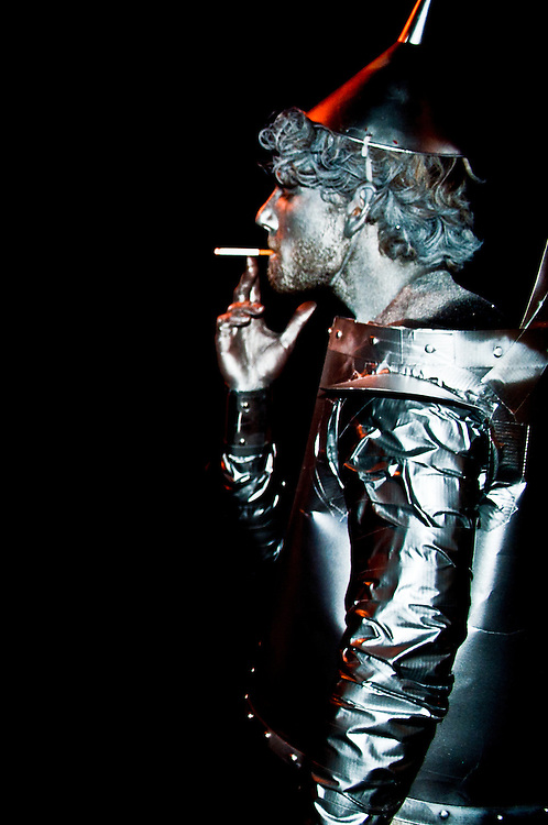 My friend Sam dressed as the Tin Man from the Wizard of Oz for Halloween 2012.