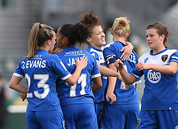 Bristol Academy players celebrate Jade Boho-Sayo's goal - Mandatory by-line: Paul Knight/JMP - Mobile: 07966 386802 - 13/09/2015 -  FOOTBALL - Stoke Gifford Stadium - Bristol, England -  Bristol Academy Women v Liverpool Ladies FC - FA WSL Continental Tyres Cup